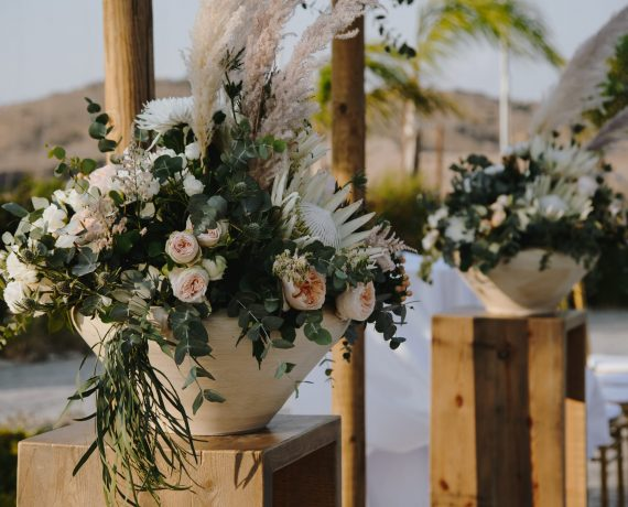 Bohemian Wedding with Proteas and David Austin Roses